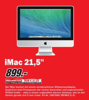 [MM Lahr, Baden-Baden, Offenburg] Apple iMac 21,5 (MF883D/A) für 899,-€