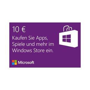 Microsoft Windows Store 10€ Guthabenkarte für 8,89€ @NBB