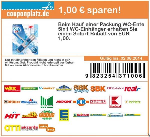 10x WC-Ente  5 in 1 WC-Einhänger GRATIS. 20,00 € gespart