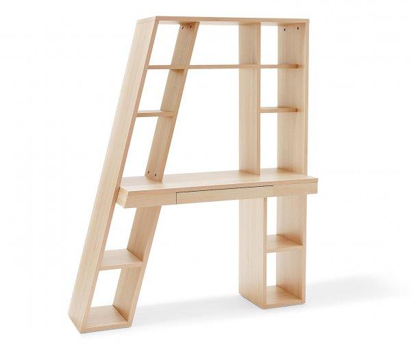 Schreibtisch-Regalelement (Akazien-Holz-Optik oder Weiß) ab 185,22 € bei tchibo.de mit (10 € Gutschein und 3 € Qipu)