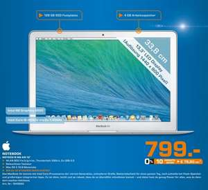 "Apple MacBook Air 13"" (MD760D/B) für 799€ Lokal [Saturn Stuttgart & Esslingen]"