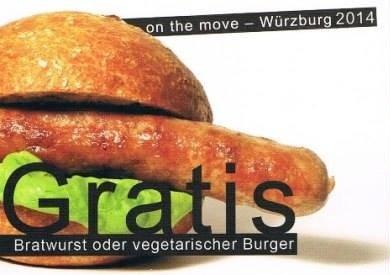 [Würzburg] Kostenlose Bratwurst oder vegetarischer Burger von Mi.-Fr., jeweils 17-19h