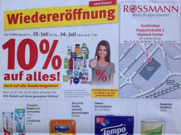 [Lokal] 10% auf Alles* bei Rossmann Euskirchen