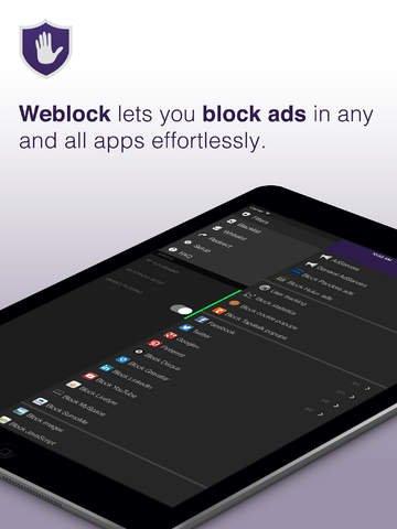 [iOS] Weblock - AdBlock for iOS -  GRATIS statt ?1,79 € (iPhone, iPad, iPod touch)