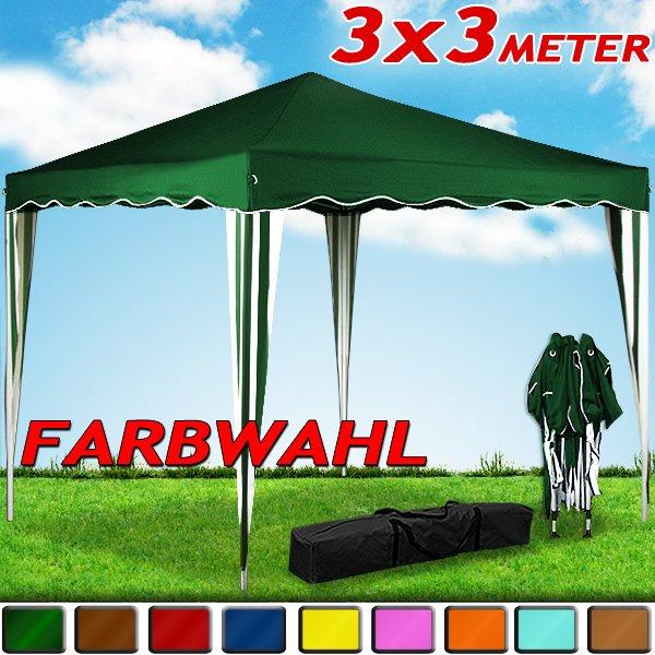 Faltpavillon 3x3m - verschiedene Farben - 34,99€