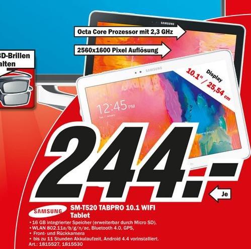 [LOKAL MM Weiterstadt/Darmstadt] Samsung Galaxy TabPro 10.1 16GB = 244€ uvm