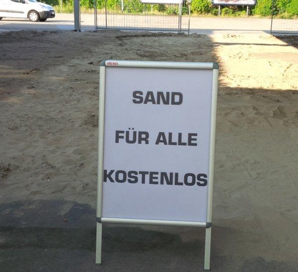 [lokal, Mannheim] Kostenloser Sand - Metro Außenbereich
