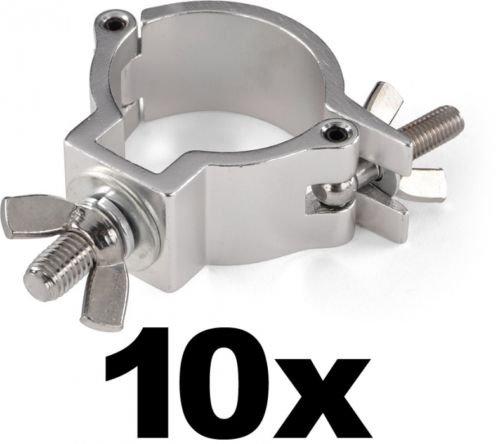 10 x Halbschelle / Trussaufnehmer / Halfcoupler Silber bis 100kg (48-51 mm) mit TÜV für 38,35€ statt 59€ (35% Ersparnis)@eBay