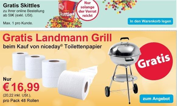VIKING GK: Landmann Grill gratis beim Kauf von 480 Rollen Klopapier