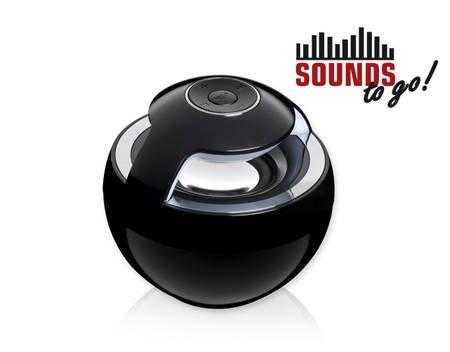 SOUNDS - to go! Bluetooth Lautsprecher schwarz  für 18,49€ @ MeinPaket