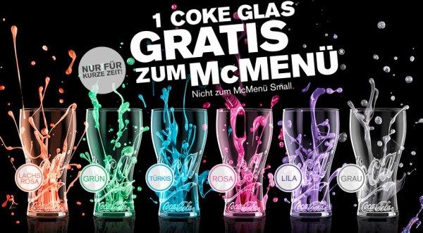 Coca-Cola Glas Gratis zu jedem McMenü oder McCafé Spar Duo Grande bei McDonalds