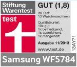 Waschmaschine Samsung Test Gut WF 57846 1400 A+++ Kindersicherung