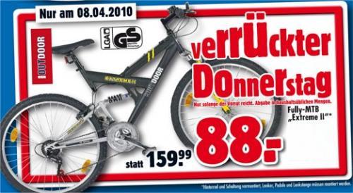 "Fahrrad Fully-Mountain-Bike 26"" - @ Praktiker nur 88,88€ am 11.08"