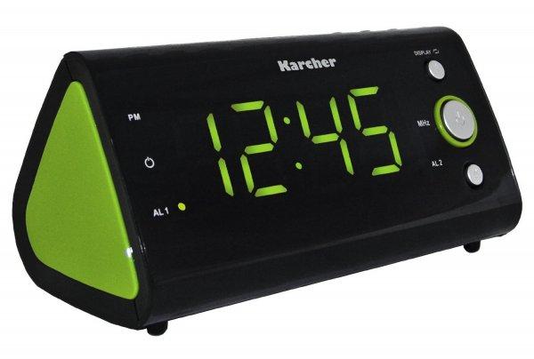 *AMAZON PRIME* Karcher UR 1040-G Uhrenradio (PLL-Radio, Temperaturanzeige, Dual-Alarm) schwarz/grün *AMAZON PRIME* Versandkosten bei vorhandener Prime Mitgliedschaft