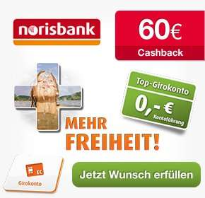 [Qipu + norisbank] 50€ Cashback für kostenloses Girokonto