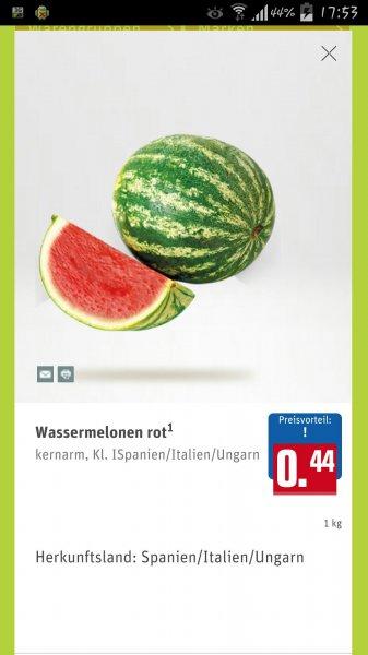Wassermelone das Kilo @Rewe