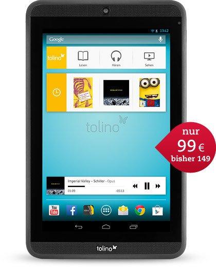 Tolino tabs ab 99€ bei thalia.de - 50 Euro sparen