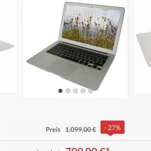 MacBook Air 13 Zoll für 799€ @ Comtech