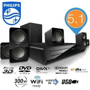 [iBOOD] Philips 3D-Blu-Ray-5.1-Heimkino-System HTB3560 für 128,90€