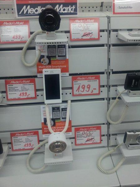 [LOKAL] Ulm Media Markt - Sony SmartShot DSC-QX10 schwarz/weiß (Kameravorsatz für Smartphones) 90 €