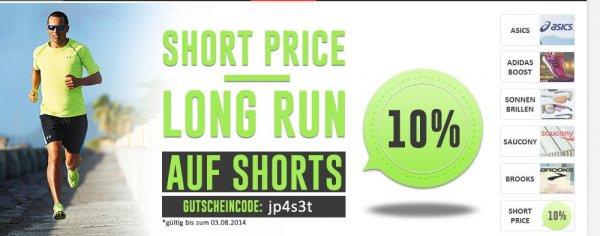 10% auf kurze hosen bei jogging point