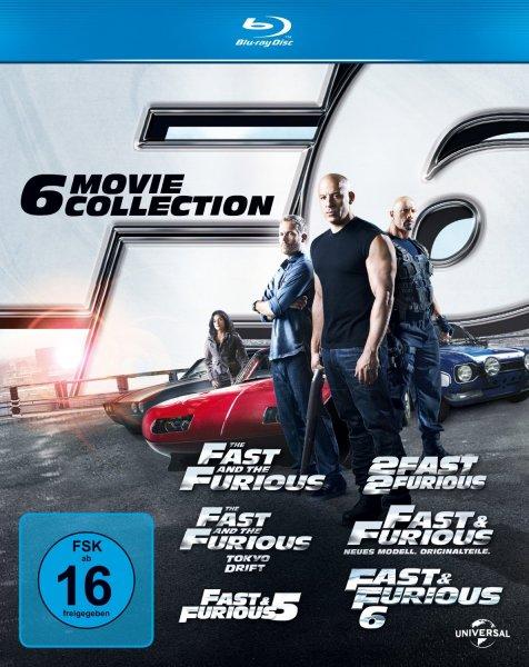 Fast & Furious 1-6 [Blu-ray] Komplettbox für 25 € @amazon