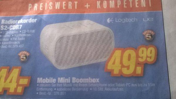 [LOKAL Tevi Nürnberg] Logitech UE Mobile Boombox Weiß für 49,00