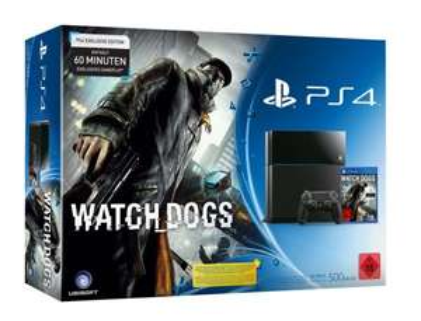 PS4 (Jet Black) + Watch Dogs für 399€, zusätzlich 20€ auf ein Spiel oder Headset (amazon.de)