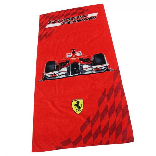 """Veolurs-Strandtuch """"Race II"""" Ferrari Art. G 10400 F42100 aus Baumwolle für 9,99€ frei @DC"""