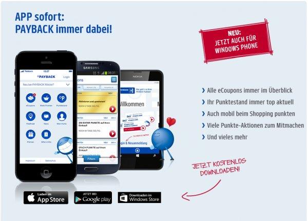 [payback.de] Über Payback App einen eCoupon aktivieren und 50 Extra-Punkte geschenkt bekommen
