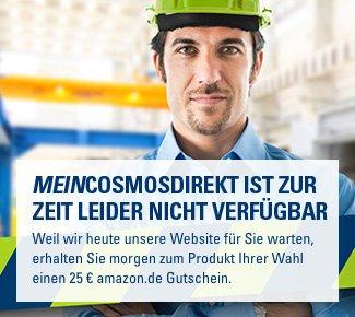 Nur am 27.07.2014 bei CosmosDirekt: 25 Euro Amazon-Gutschein auf alle Produkte!