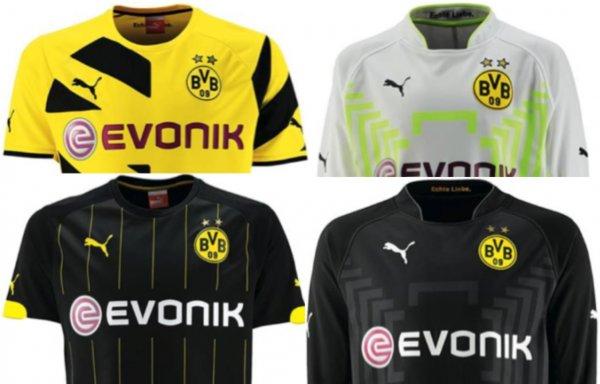 BVB: Puma Heim/Auswärts/Torwart-Trikot Borussia Dortmund Saison 2014/2015