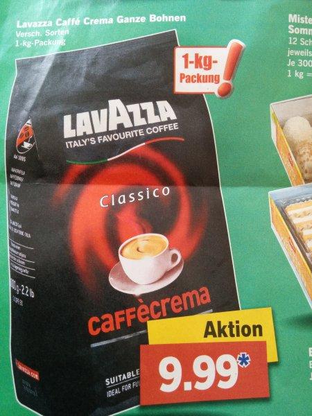 Lavazza Caffe Crema Ganze Bohnen verschiedene Sorten 1kg Packung