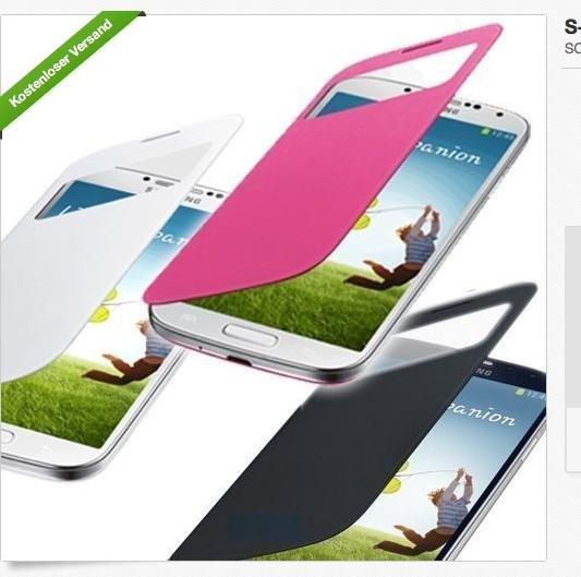 {EBAY} Flip Case mit Sichtfenster für Samsung Galaxy S4 (Original???)