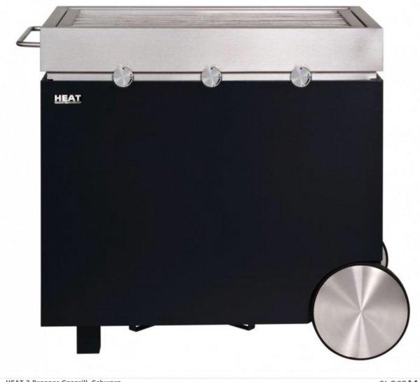 Heat Gasgrill 3-Brenner Design Grill in schwarz