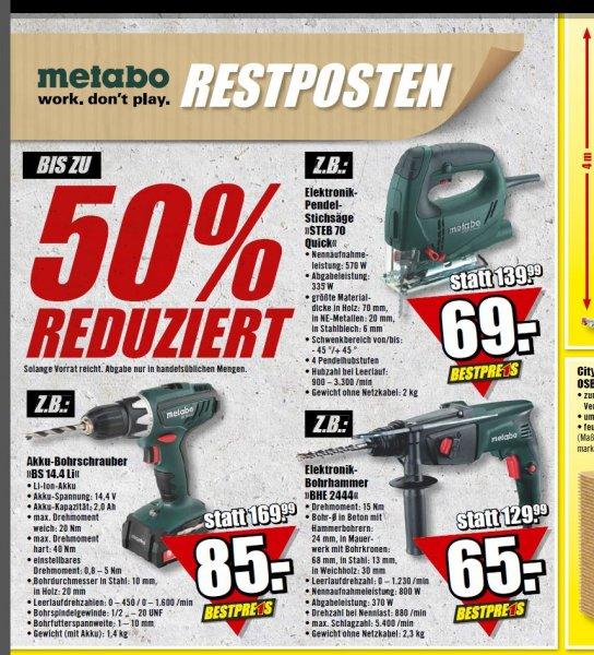 [Lokal Berlin] Metabo Restposten bei B1 Discount Baumarkt zb. BS 14.4 für 85€ ab 26.07.