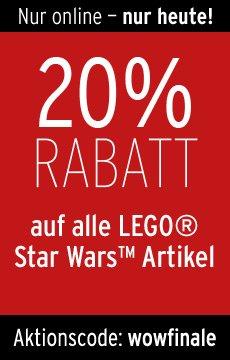 20% Rabatt auf alle Lego Star Wars Artikel @Karstadt - nur heute