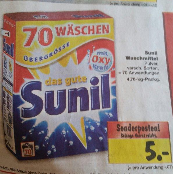 das gute Sunil Waschmittel 70 WL im Kaufland