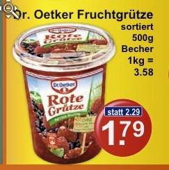(K+K) Dr. Oetker Fruchtgrütze verschiedene Sorten supergünstig !!!