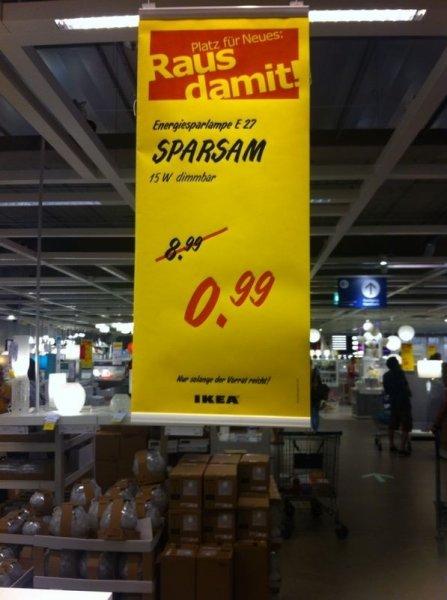 München: Ikea Energie sparlampe E27 Nur 99 cent (90% Rabatt)