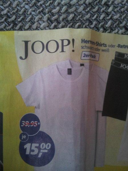 JOOP Herren-Shirts 2er Pack - schwarz oder weiß bei real für 15,00 EUR [LOKAL?]