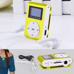 Kleiner MP3-Player + FM-Radio mit Clipper aus China