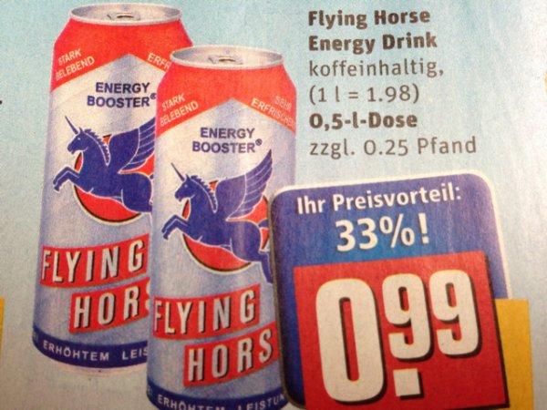 [Lokal Günzburg? Rewe] Flying Horse 0,5l Energy Drink 0,99€