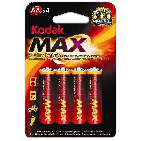 1x4 KODAK MAX AA | Batterie Batterien Alkaline Mignon 1.5V 2850mAh LR6 UM3 OEM°
