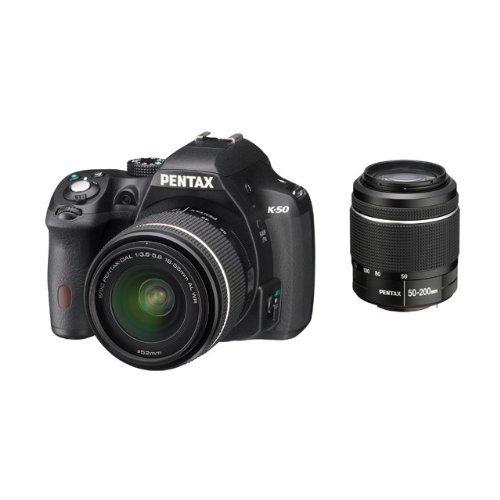 Pentax K-50 Kit 18-55 mm + 50-200 mm (schwarz) für 505,75€ @Amazon.fr