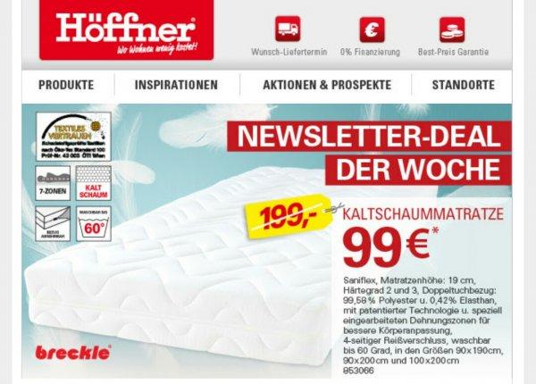 [offline] Breckle 7Zonen-Kaltschaummatratze 90*200 für 99€ (idealo ab 179€)