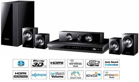 Samsung HT-D5100 1000-Watt 5.1 3D Blu-ray Heimkinosystem heute bei iBOOD.com