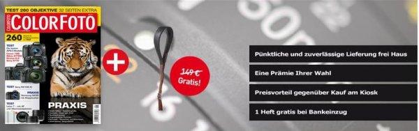 Jahresabo Colorfoto Magazin + Elchleder Kameragurt (Eddycam Monochrome) für 75,90€