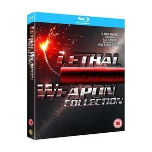 Lethal Weapon 1 - 4 Collection Box Set (5 Discs) (Blu-ray)