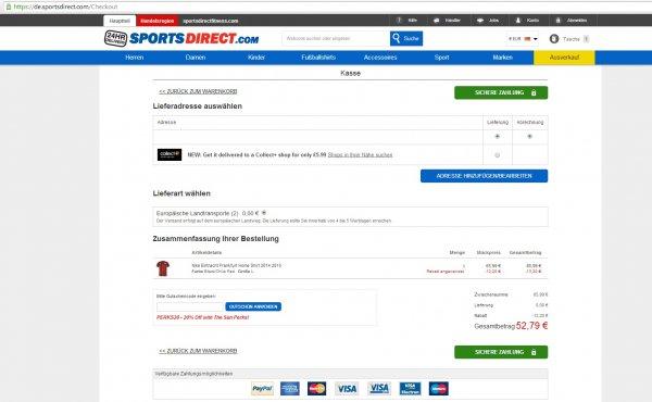 Eintracht Frankfurt Heim Trikot 2014/15 für nur 52,79€